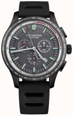 Victorinox Swiss Army Mens Alliance Sport Chronograph PVD Grey Dial Black Rubber 241818
