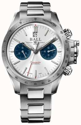 Ball Watch Company Engineer Hydrocarbon Racer Chronograph 42mm Silver Dial CM2198C-S2CJ-SL