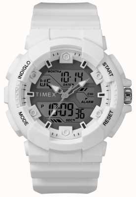 Timex Mens 50mm White Case White Strap TW5M22400