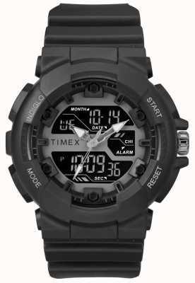 Timex Mens 50mm Black Case Black Strap TW5M22500