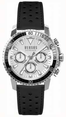 Versus Versace Mens Aberdeen Black Leather Strap Silver Dial S30010017