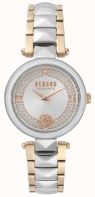 Versus Versace Women's Covent Garden Two Tone Crystal Watch SPCD250017