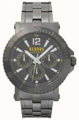 Versus Versace Mens Steenberg Grey Dial Grey Stainless Steel Bracelet SP52050018