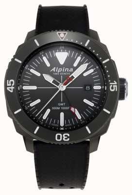 Alpina Men's Seastrong Diver GMT Black Rubber Strap AL-247LGG4TV6