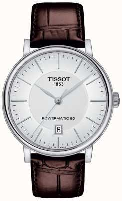 Tissot Mens Carson Automatic Brown Leather Strap T1224071603100