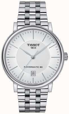 Tissot Mens Carson Automatic Stainless Steel White Dial T1224071103100