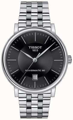 Tissot Mens Carson Automatic Black Dial Stainless Steel T1224071105100