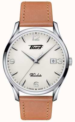 Tissot Mens Visodate Heritage Quartz Beige Dial Tan Leather Strap T1184101627700