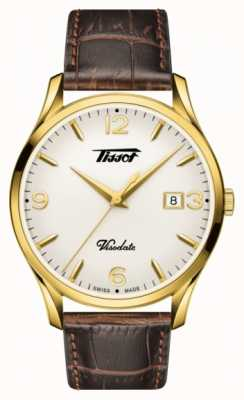 Tissot Mens Visodate Heritage Quartz Brown Vintage Leather T1184103627700