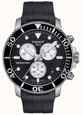 Tissot Mens Seastar 1000 Quartz Chronograph Black/Rubber Strap T1204171705100