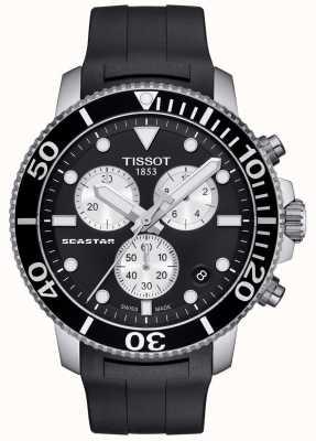 Tissot Mens Seastar 1000 Quartz Chronograph Black/Rubber Strap T1204171705100