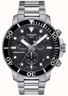Tissot Mens Seastar 1000 Quartz Chronograph Black/Stainless Steel T1204171105100