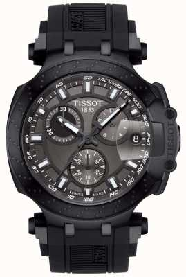Tissot Mens T-Race Quartz Chrono Black Strap Grey Dial T1154173706103