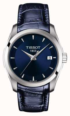 Tissot Womens Couturier Blue Leather Strap Blue Dial T0352101604100