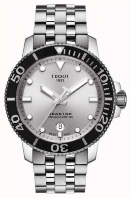Tissot Mens Seastar 1000 Automatic Silver Dial Stainless Steel T1204071103100