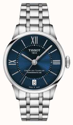Tissot Chemin Des Tourelles Powermatic 80 Stainless Steel Blue Dial T0992071104800