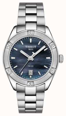 Tissot Womens PR 100 Sport Chic 36mm Stainless Steel Blue T1019101112100