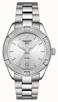 Tissot Womens PR 100 Sport Chic 36mm Stainless Steel Silver T1019101103100