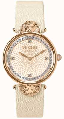 Versus Versace Womens Victoria Harbour Cream Leather Strap Rose Dial VSP33130018