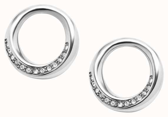 Fossil Stainless Steel Stone Set Earrings JF03014040