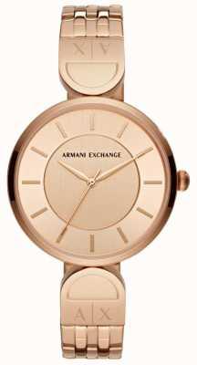Armani Exchange Ladies Dress Watch Rose Gold AX5328