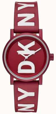 DKNY Ladies Soho Watch Red Leather NY2774