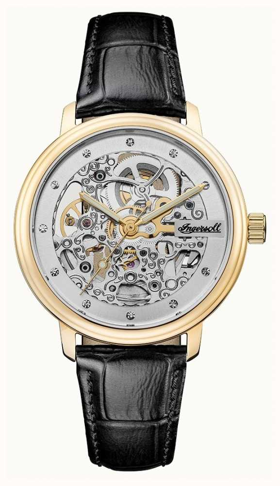 Strap Black The Automatic Ingersoll Crown Leather ARj4L53q