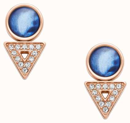 Fossil Womens Rose Gold PVD Plated Earrings JF03009791