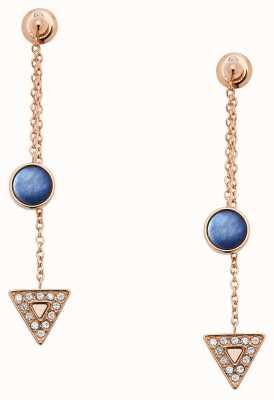 Fossil Womens Rose Gold Earrings JF03010791