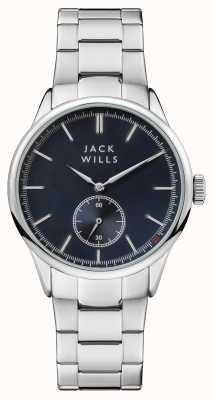 Jack Wills Mens Forster Blue Dial Stainless Steel Bracelet JW004BLSL