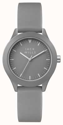Jack Wills Womens Union Grey Dial Grey Silicone Strap JW008GYGY
