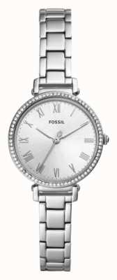 Fossil Womens Kinsey Stainless Steel Strap White Dial ES4448