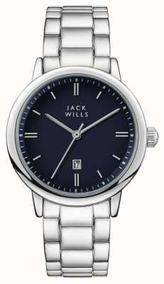Jack Wills Womens Raleigh Blue Dial Stainless Steel Bracelet JW010BLSS