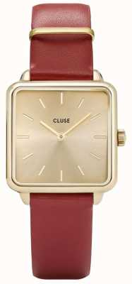 CLUSE La Garconne Gold And Red Watch CL60009