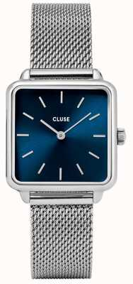 CLUSE La Garaconne Silver And Marine Blue Watch Mesh Strap CL60011