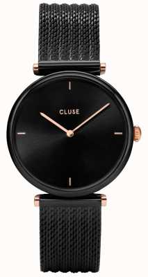 CLUSE Triomphe Black Mesh Watch CL61004