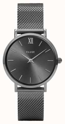 CLUSE Minuit Mesh Gun Metal Watch CL30067