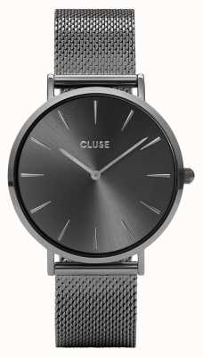 CLUSE La Boheme Gun Metal Mesh Watch CL18121