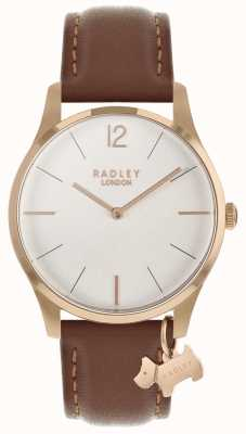 Radley Silver White Satin Dial Leather strap RY2714
