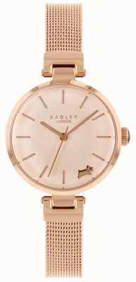 Radley Ladies Watch Rose Gold Case Mesh Bracelet RY4360