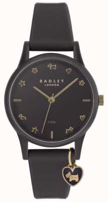 Radley Ladies Purple Silicone Watch With Pale Gold Markers RY2696