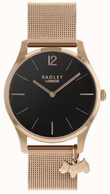 Radley Ladies Watch Rose Gold Mesh Strap RY4356