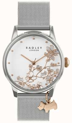 Radley Ladies | Stainless Steel Silver Mesh Bracelet | White Dial | RY4347S