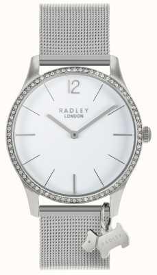 Radley Ladies Swarovski Crystals White Dial Stainless-Steel RY4353