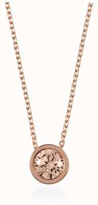 Radley Jewellery Rose Gold Fine Curb Chain With Vintage Rose Stone Set Pendan RYJ2026