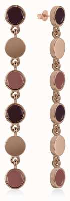 Radley Jewellery Enamel Drop Earrings Rose Gold RYJ1046
