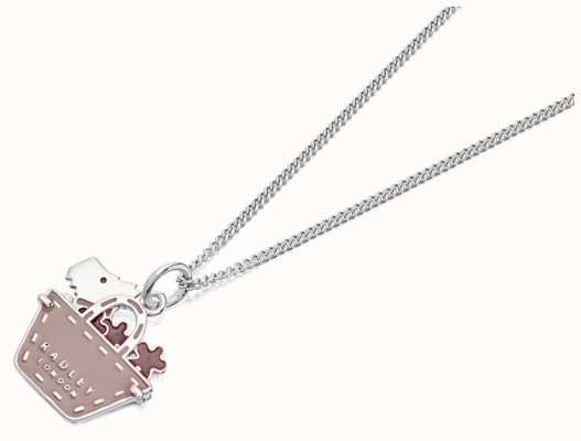 Radley Jewellery Silver Dog In Shopping Bag Necklace RYJ2047