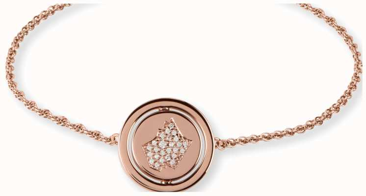 Radley Jewellery Rose Gold Rotating Disc Friendship Bracelet RYJ3040