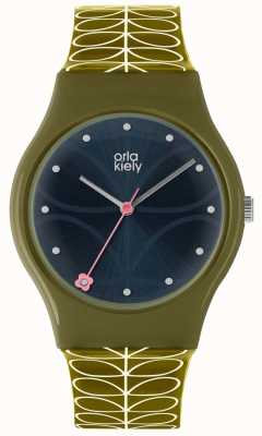 Orla Kiely Ladies Bobby Watch Dark Green OK2223
