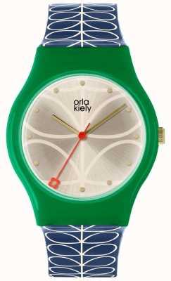 Orla Kiely Ladies Bobby Watch Green And Navy Blue OK2224